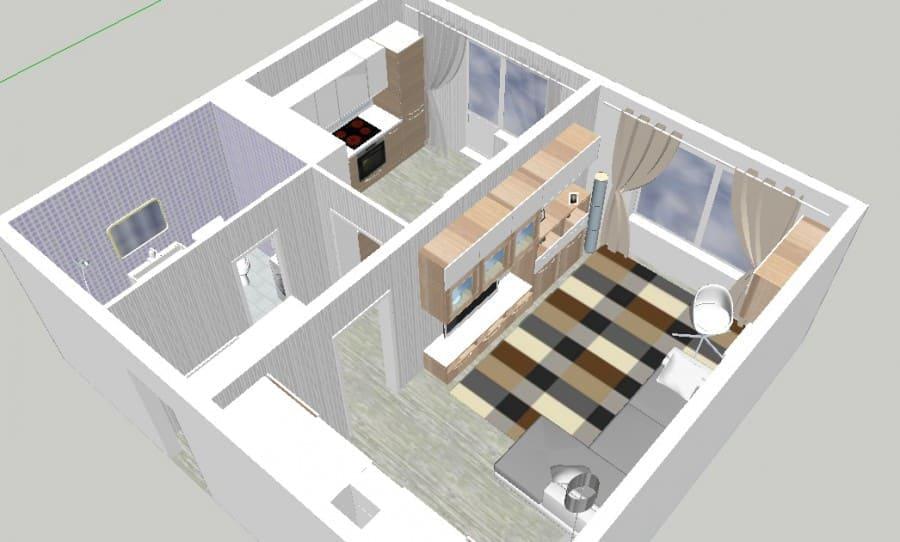дизайн-проект интерьера квартиры от икеа