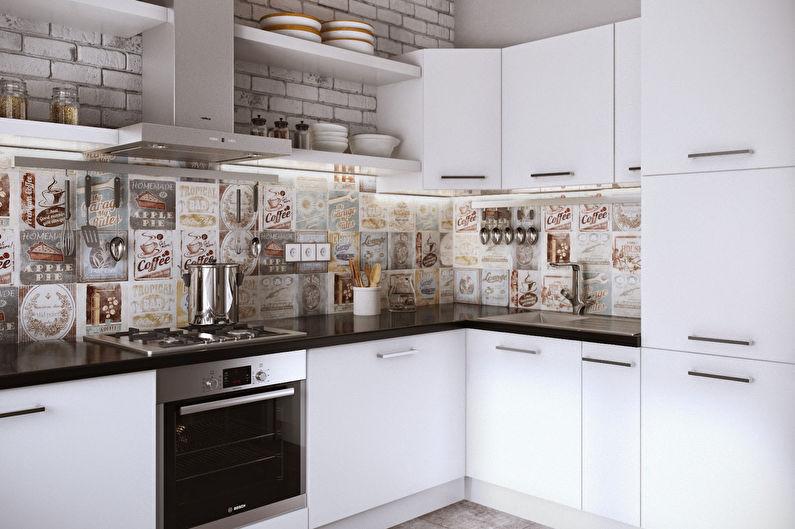 белая компактная кухня от икеа