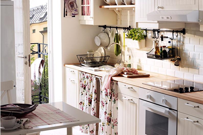 кухня от Икеа в нежном стиле прованс