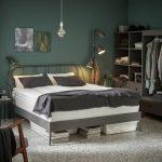 готовый интерьер для спальни в сером цвете