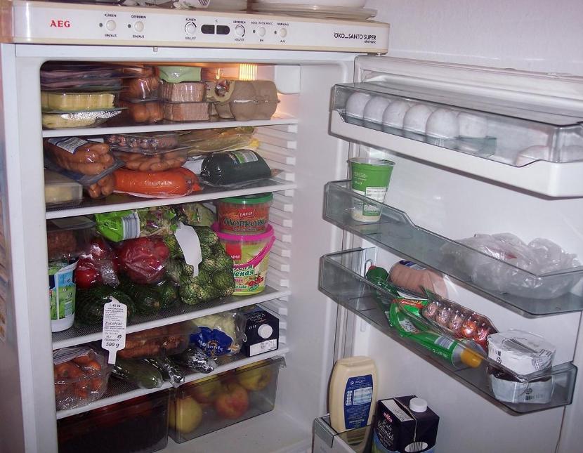 перегруженный холодильник
