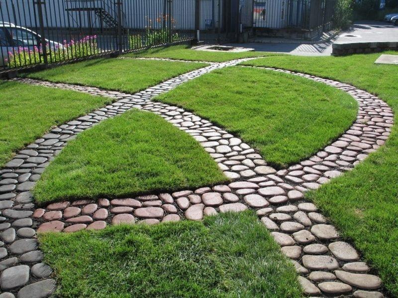 необычные дорожки на садовом участке
