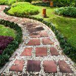 интересная идея для садовой дорожки