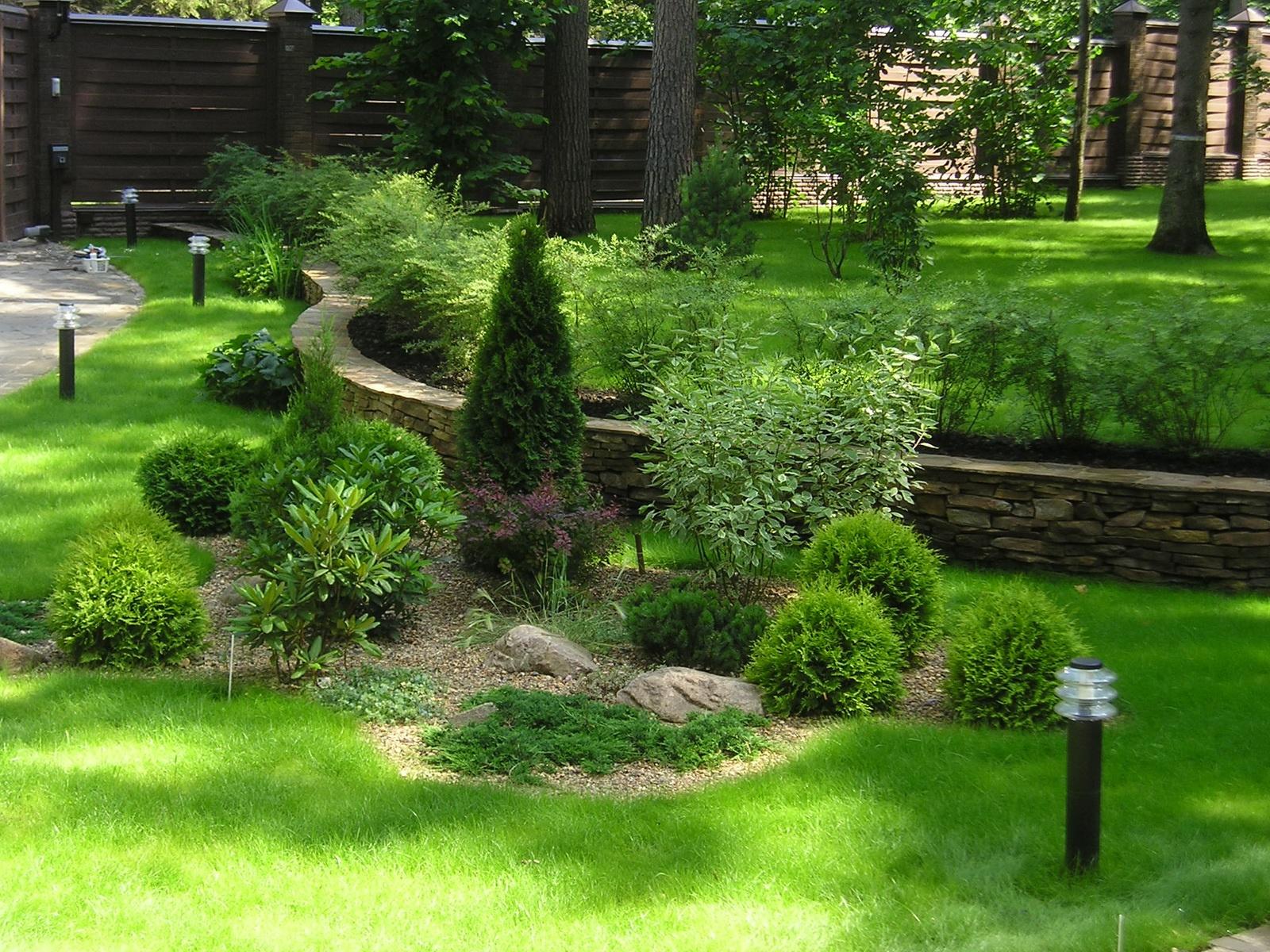 эстетичный вид садового участка