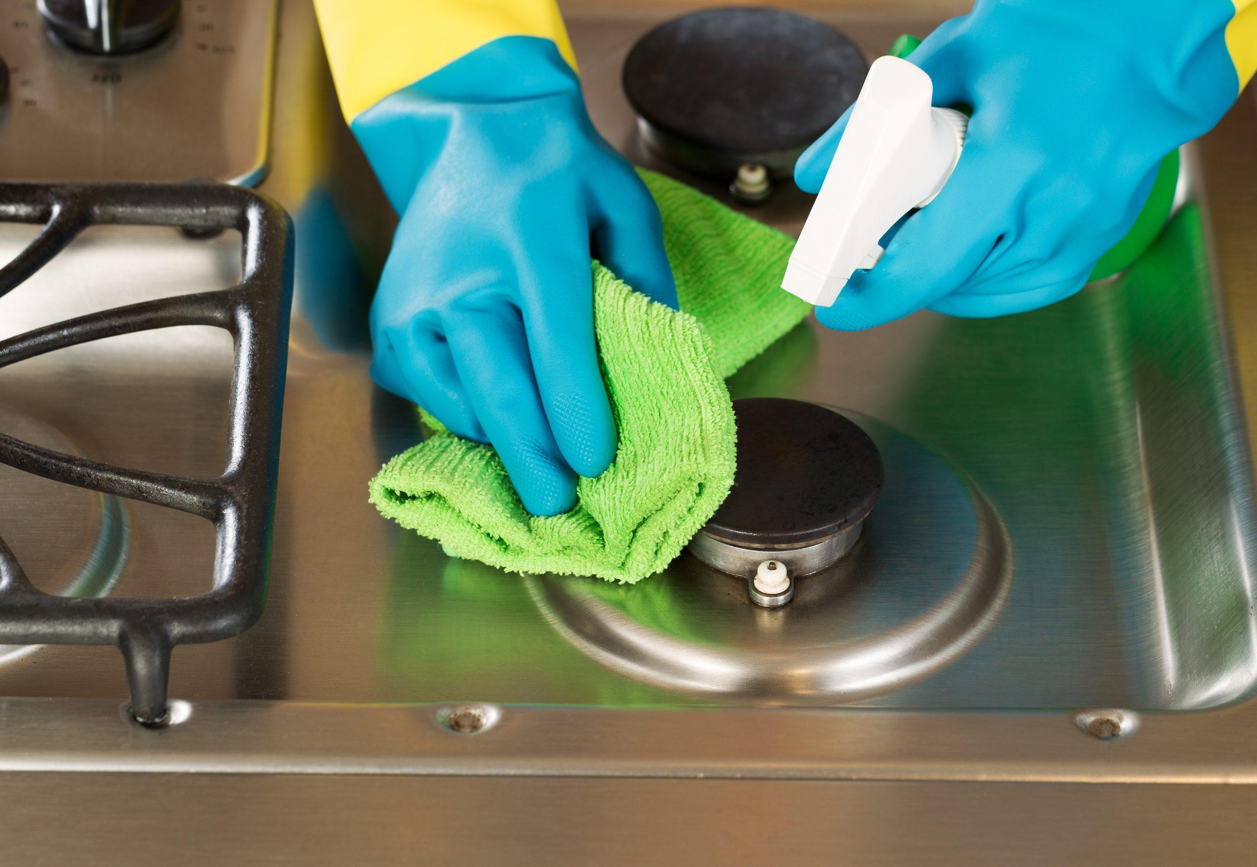 чистка печки уксусом