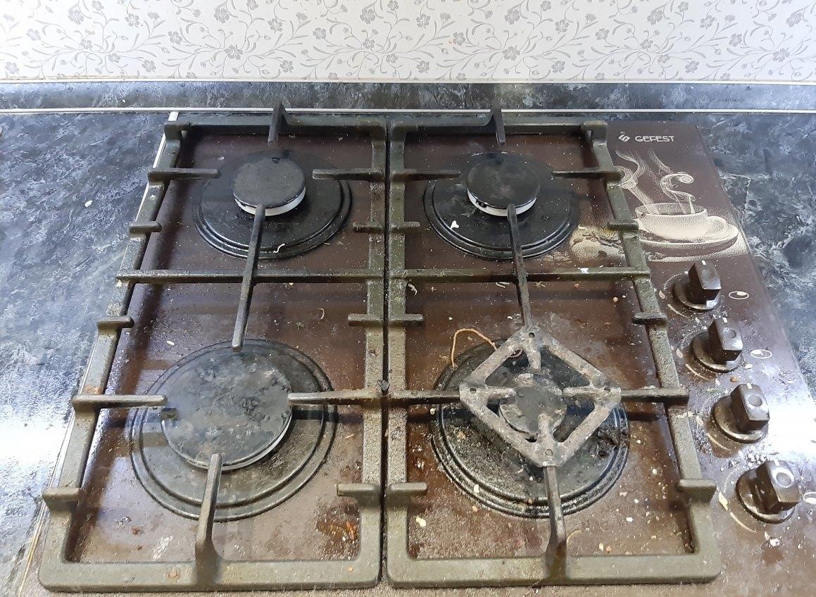 правильная чистка плиты