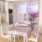тюль для окна на кухне с рисунком