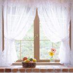 воздушный белоснежный тюль на небольшое окно