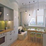 красивое декорирование окна на кухне