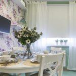 белые тюлевые занавески для кухни