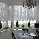 декор окна с помощью тюля