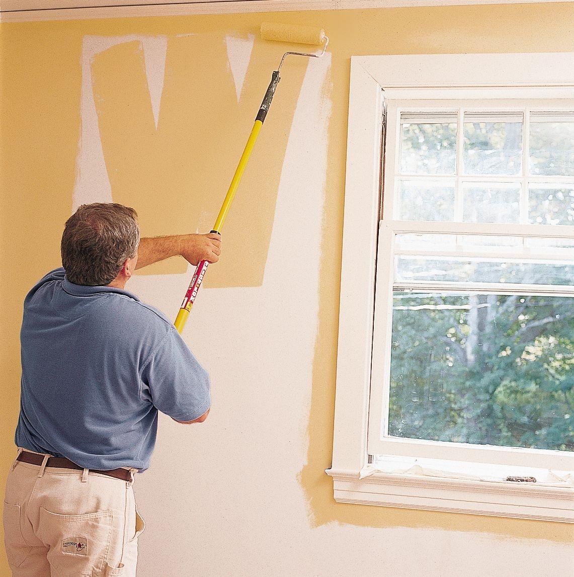покраска стены на кухне
