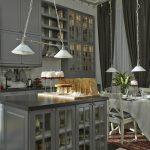 необычное освещение кухни от Икеа