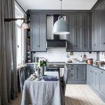 благородный серый цвет на кухне от Икеа
