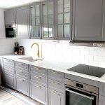продуманное удобное расположение кухни от Икеа