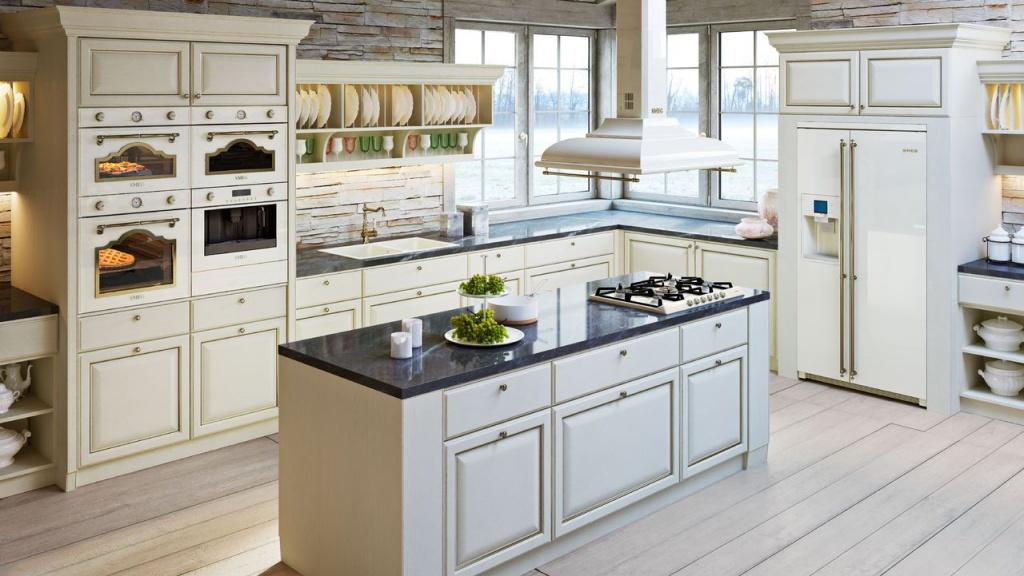 дизайнерское решение для ретро кухни