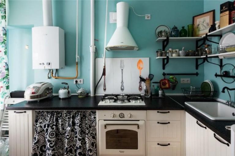 декор для кухни в ретро стиле