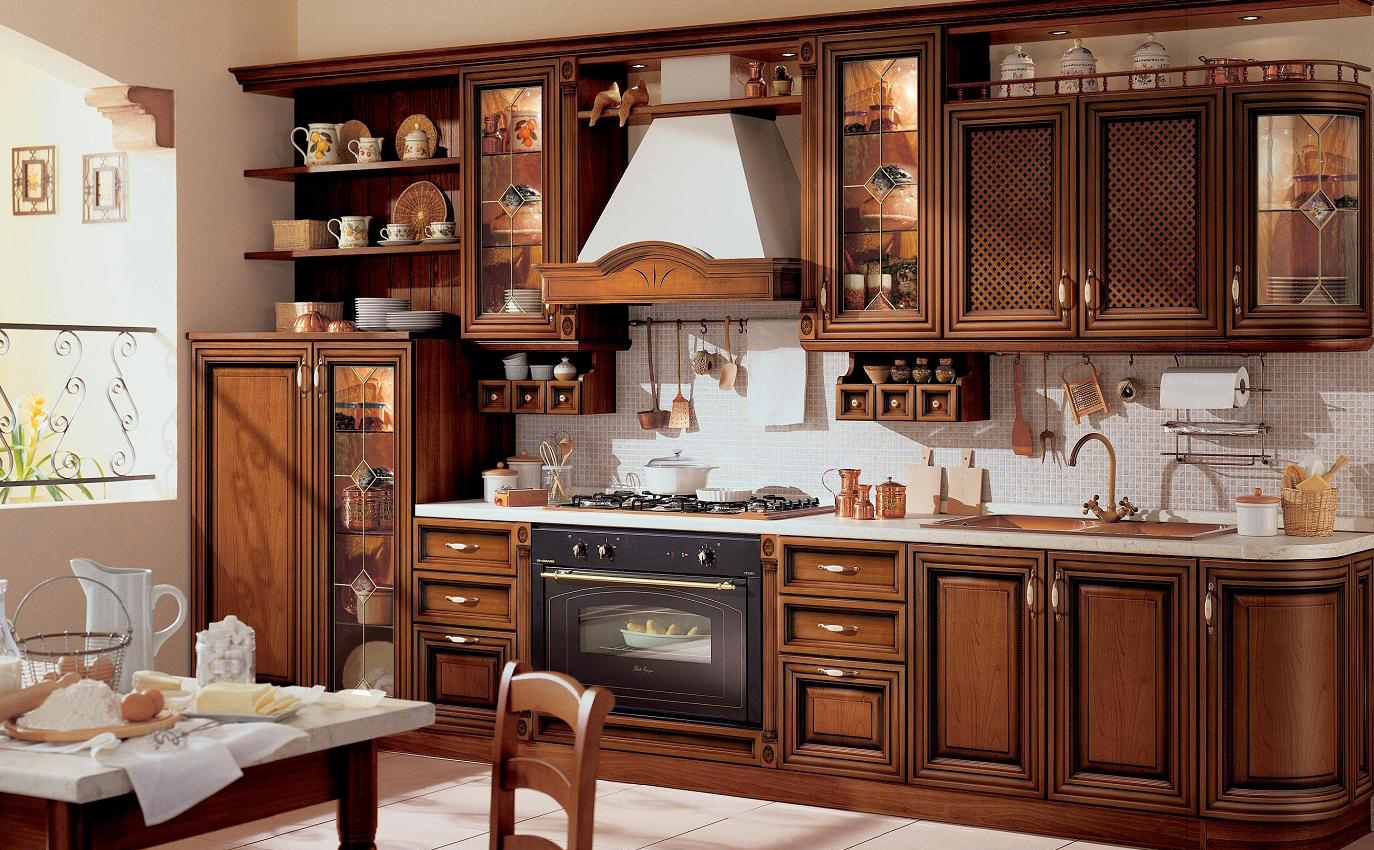 кухня ретро викторианский стиль