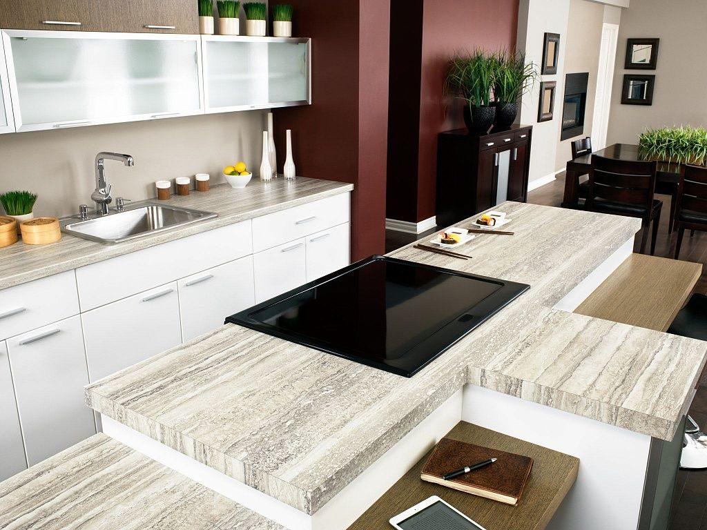 использование натурального камня в интерьере кухни
