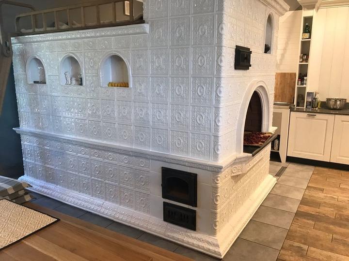Печь, облицованная плиткой