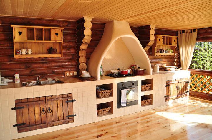 Дизайн кухни с применением натуральных материалов