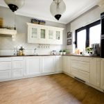 белые тона на кухне
