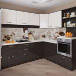 полы на кухне темного цвета