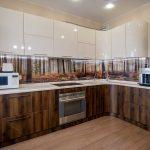 шикарные фотообои на кухне