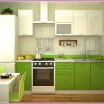 кухонный гарнитур - оливковый низ белый верх