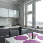 большие окна на кухне