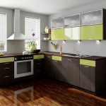 оливково-коричневая кухня