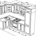 планировка установки холдильника