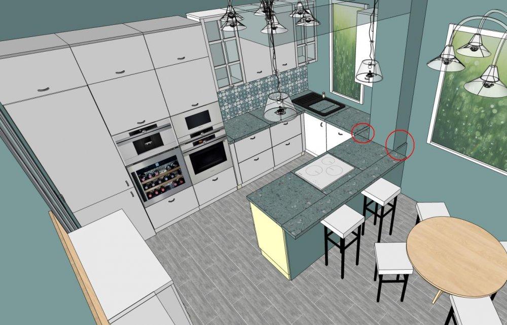 использование специальной программы для проектирования кухни