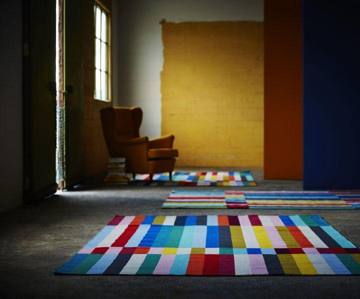 разноцветный яркий коврик
