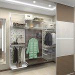Сеточная гардеробная конструкция белого цвета
