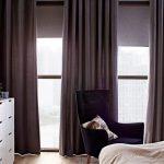 коричневые шторы икеа