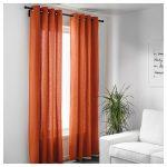оранжевые шторы икеа