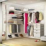 Сотовая гардеробная конструкция белого цвета