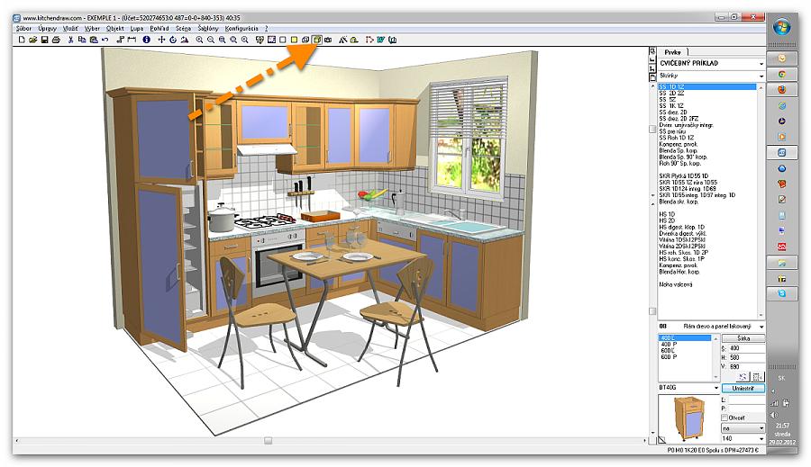 Использование компьютерной программы для проекта стильной кухни