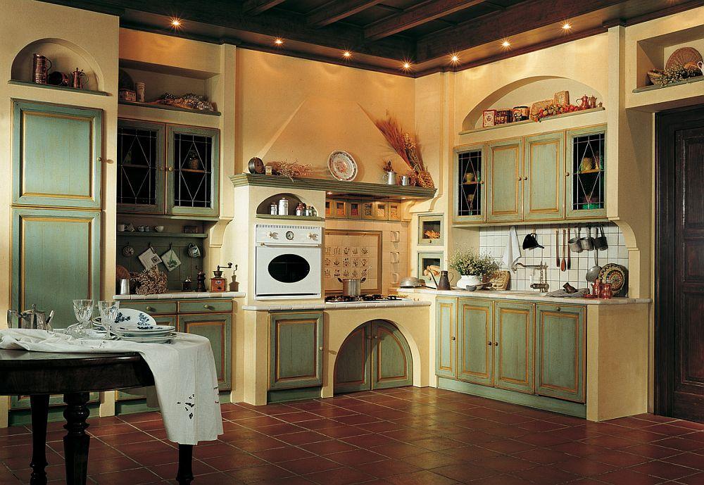 угловая кухня в этническом стиле