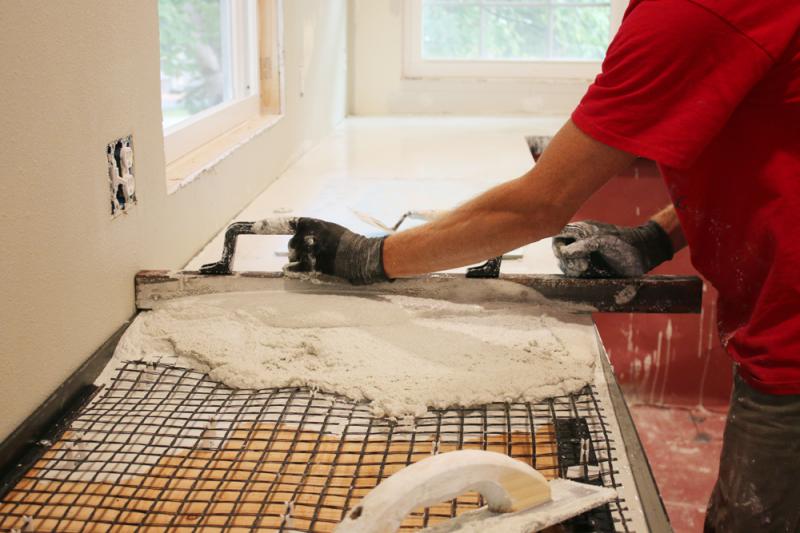 основной слой бетонной смеси