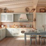 просторная угловая кухня в стиле кантри