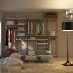 Вместительный гардероб-конструктор под лестницей