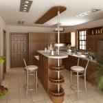 необычный дизайн кухонной стойки
