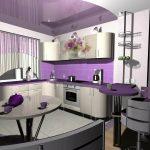 кухня с фиолетовыми оттенками