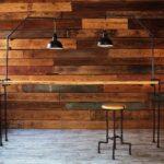 деревянная стена в стиле лофт
