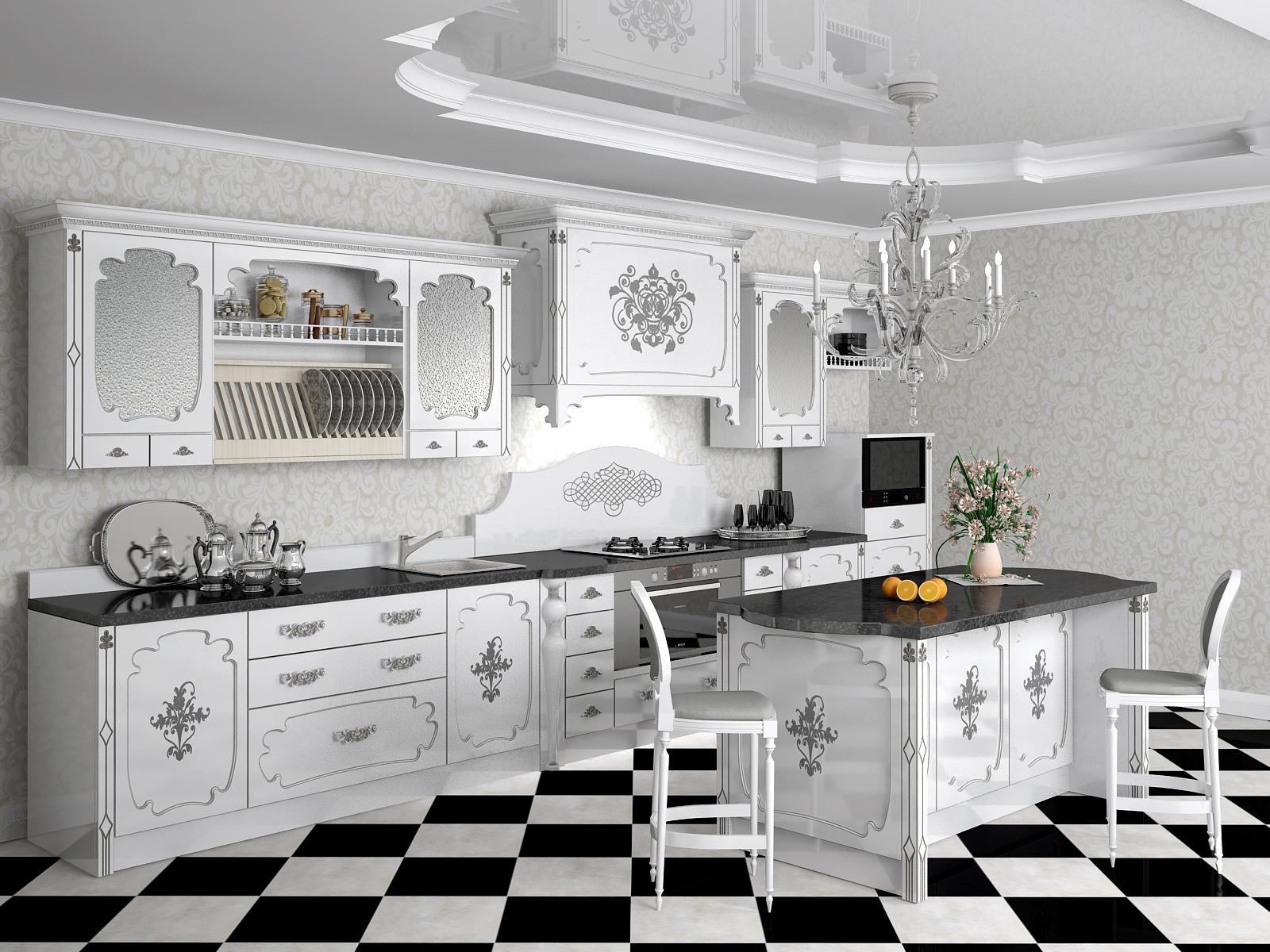 необычный пол на кухне