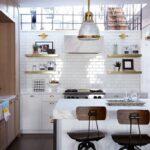Белые кухни лофт