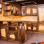 Деревянные кухни под старину