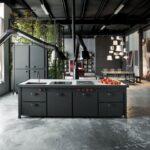 Дизайн кухни лофт Индастриал